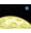 lunar moon vector image vector image