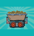 mining trolley with cryptocurrency bitcoin vector image vector image