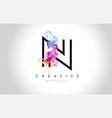 n vibrant creative leter logo design with vector image