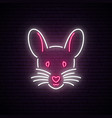 neon mouse sign new year 2020 symbol mouse vector image vector image
