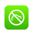 no caterpillar sign icon digital green vector image