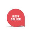 red round sticker best seller vector image vector image