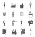Salesman Icons Set vector image vector image