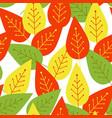 seamless autumn background botanical vector image vector image