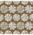 Seamless christmas pattern Origami snowflakes vector image vector image