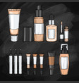 set of foundations vector image vector image