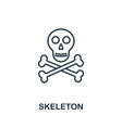 skeleton outline icon thin line style from vector image vector image