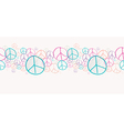 Sketch peace symbols seamless pattern background vector image vector image