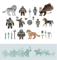 Stylized fantasy characters vector image