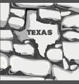 texas stone wall vector image vector image