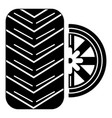 tire icon simple black style vector image vector image
