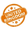 United Kingdom grunge icon vector image vector image