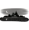 venice moonlit night vector image
