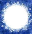 winter watercolor round frame with snowflakes vector image vector image