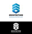 Blue architecture logo template vector image