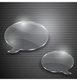Two speech bubbles from glass vector image