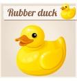 Yellow rubber duck Cartoon vector image