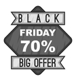 Label black friday seventy percent big offer icon vector image