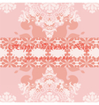 Valentines day card with ornaments vector image