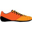 Orange sport shoe vector image