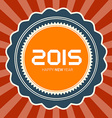 2015 Happy New Year Retro vector image vector image