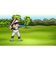 A boy playing baseball vector image vector image