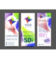 a set of vertical banners with abstract full color vector image vector image
