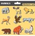 animals stickers set vector image vector image