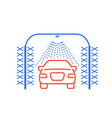 automatic car wash icon car sprinkler and vector image vector image