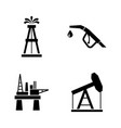barrel oil production simple related icons vector image