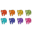 bears in different colors vector image