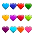 Big set with cartoon heart vector image vector image