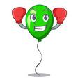 boxing green balloon cartoon birthday very funny