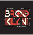 broolklyn t-shirt and apparel geometric vector image vector image