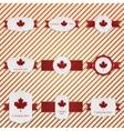 Canada Day patriotic Labels Set vector image