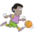 Cartoon Basketball Boy vector image vector image