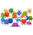 cartoon playful basic geometric shapes characters