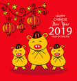 chinese new year 2019 vector image vector image