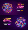 cinema website banners vector image vector image