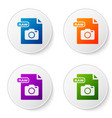 color raw file document download raw button icon vector image vector image