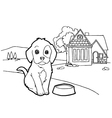 Coloring book with dog vector image vector image