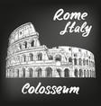 colosseum an ancient amphitheatre an vector image