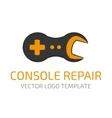 Console repair logo vector image vector image