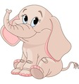 cute baby elephant vector image vector image