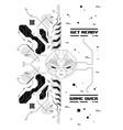 cyberpunk futuristic poster with retro games vector image vector image