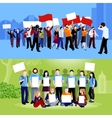 Demonstration Protest People Compositions vector image