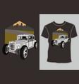 design t shirthot road retro vintage car vector image vector image