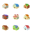 Dwelling icons set cartoon style vector image vector image