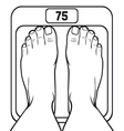 feet on the scale vector image vector image