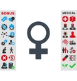 Female Symbol Icon vector image vector image